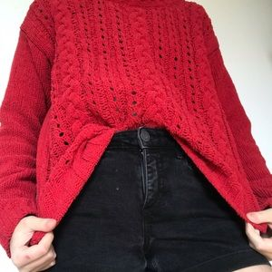Soft Red Aeropostale Sweater